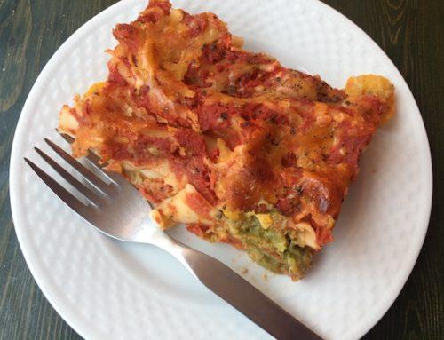 Cannelloni umpluți cu broccoli, dovlecei și brânză rasă